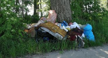 Kto zostawił śmieci przy drodze?