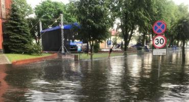 Ulice w Jastrowiu pod wodą