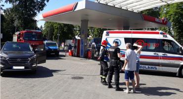 Kobieta w ciąży potrącona na stacji benzynowej