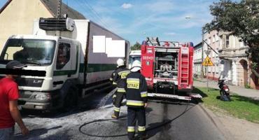 Pożar samochodu w Jastrowiu