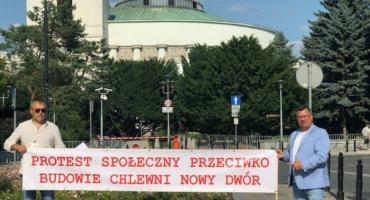 Przedstawiciele Ekologicznej Doliny przy Wiatraku w Warszawie