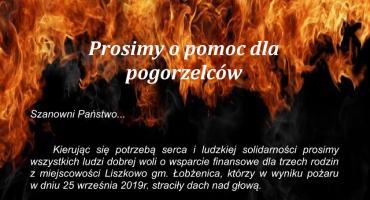 Apel o pomoc dla pogorzelców z Liszkowa