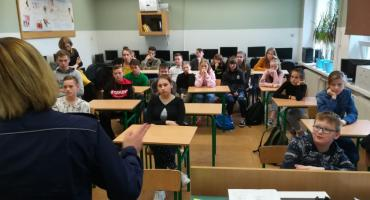 Policjanci spotkali się z uczniami w Kleszczynie