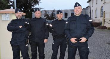 Policjanci zabezpieczali wizytę Prezydenta w Złotowie