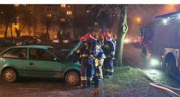 Pożar samochodu w Złotowie
