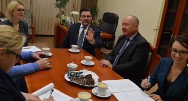 Burmistrz gościł konsula