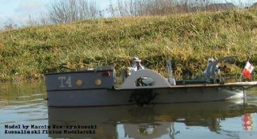 Trałowiec rzeczny T-4 - 1/35 - choroszy Modelbud