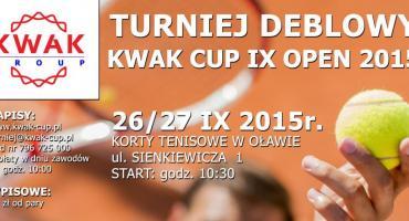 Turniej deblowy KWAK CUP już w ten weekend