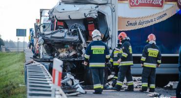 Wypadek na A4. Zderzyły się ciężarówki