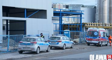 Wypadek na budowie fabryki. Nie żyje mężczyzna