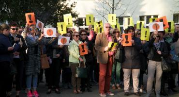 Spotkali się, bo wspierają protest nauczycieli