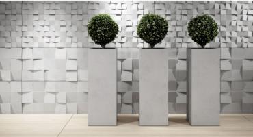 Duże donice do nowoczesnych wnętrz? Wypróbuj beton architektoniczny