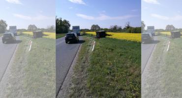Samochód ciężarowy wjechał w rzepak