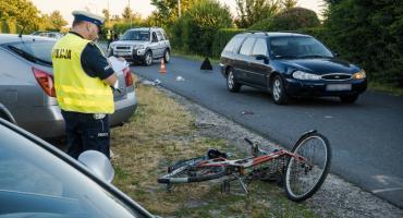 Potrącenie rowerzysty. Poszkodowany w ciężkim stanie