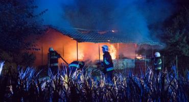 Duży pożar w Bystrzycy