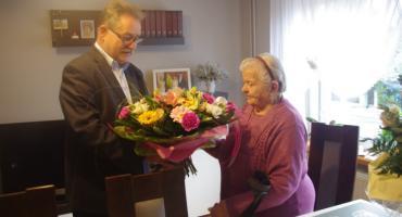 Życzenia dla najstarszej mieszkanki