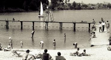 Nad jelczańskim stawem w latach 80.