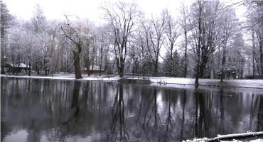 Park Norweski o poranku