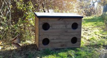 Domki dla wolno żyjących kotów w Szklarskiej Porębie. Chronią przed deszczem i zimnem
