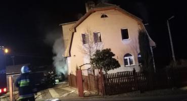 Pożar w budynku w Pobiednej