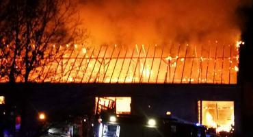 Ogromny pożar w Jeleniej Górze