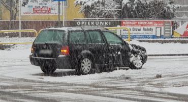 Trudne warunki na drogach. Zderzenie na Zabobrzu