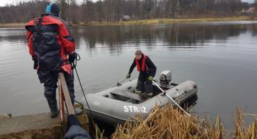 Akcja poszukiwawcza na zbiorniku w Bukowcu