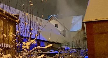 Pożar stolarni przy ulicy Ceglanej