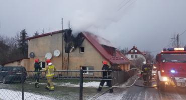 Pożar w Ścięgnach Jedna osoba poszkodowana