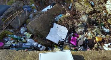 Śmietnik w centrum miasta