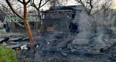 Jelenia Góra - Pożar altanki przy ul. Hofmana