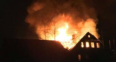 Ogromny pożar w Staniszowie