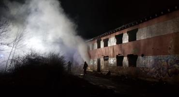 Pożar w pustostanie na Krakowskiej
