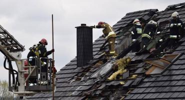 Pożar stolarni w Łomnicy.