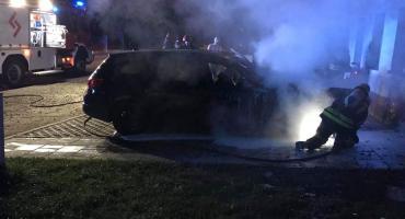 Pożar auta na ulicy Żeromskiego