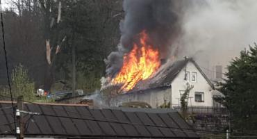 Pożar budynku w Staniszowie