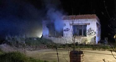 Nocny pożar na Legnickiej