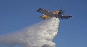 Pożar lasu w okolicach Jagniątkowa. W akcji samoloty gaśnicze.