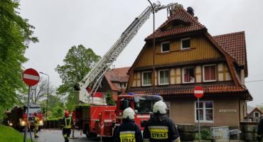 Pożar sadzy w budynku przy ulicy Chełmońskiego