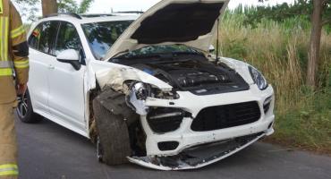 Przebiegające sarny i zderzenie dwóch aut