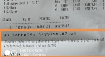 Prawie 1,5 miliona złotych na rachunku za wodę