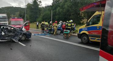 Wypadek na dk3 w Kaczorowie. Lądował śmigłowiec LPR