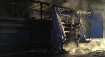 Pożar ciężarówki po czeskiej stronie granicy