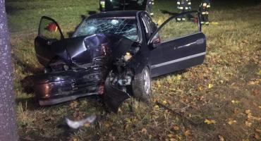 Cztery osoby ranne w nocnym wypadku na DK30