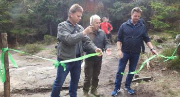 Szlak zielony od Pielgrzymów do schroniska Odrodzenie został oficjalnie otwarty