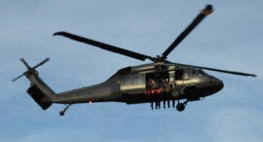 W Piechowicach lądował śmigłowiec Black Hawk