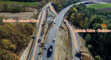 Koniec utrudnień na DK3 między Bolkowem a Jelenią Górą!