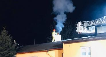 Pożar komina. Na szczęście obok przejeżdżali strażacy
