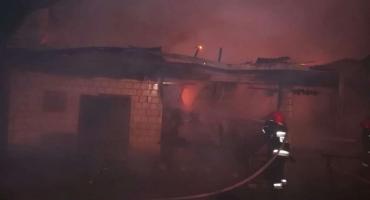 Spłonął budynek gospodarczy