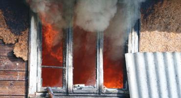 Dom stanął w płomieniach